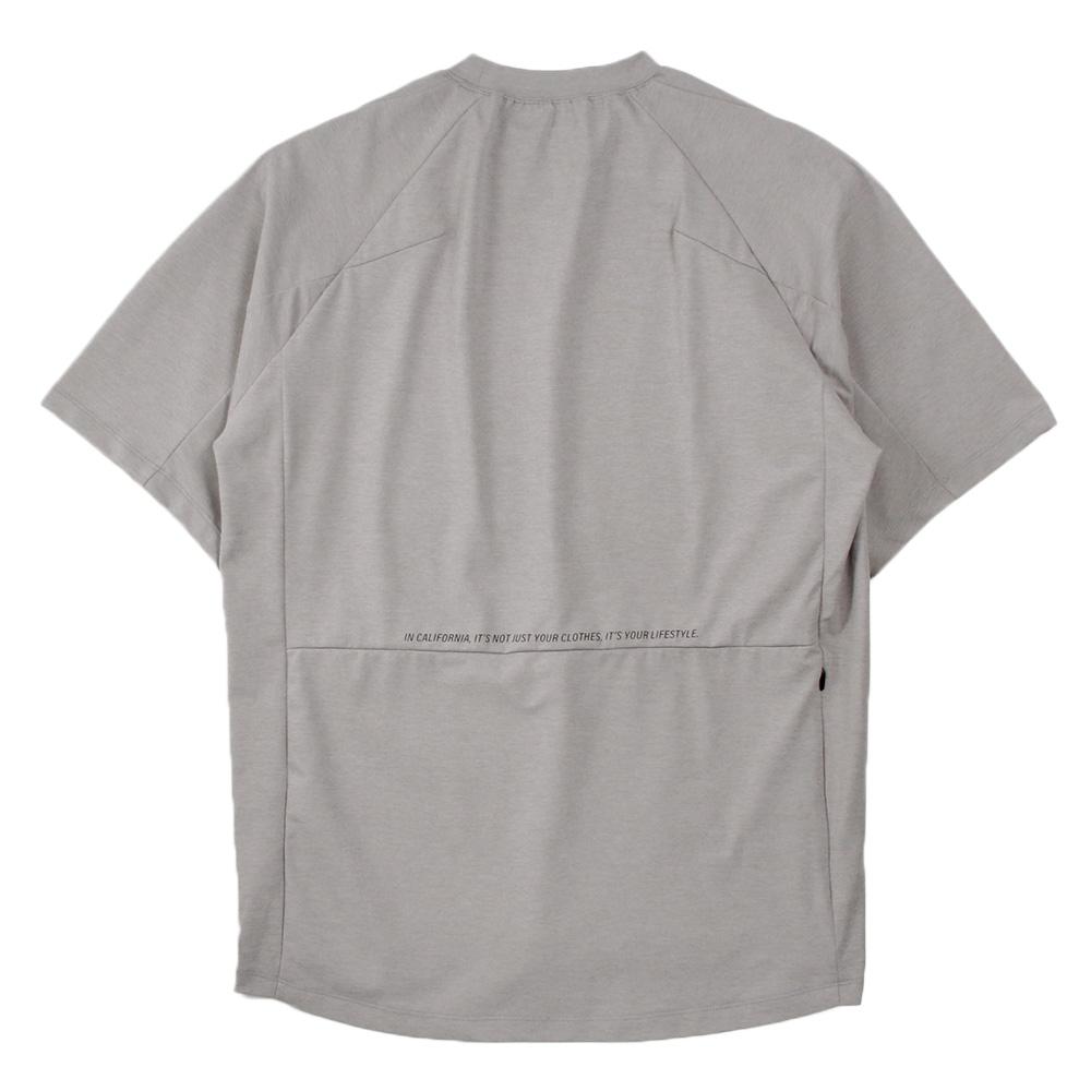 H.I.P. by SOLIDO×LEADER DELTA Tシャツ SOLOTEX LOOSE CREWNECK HALF SLEEVE T MHSL21S0828-M L.GRAY