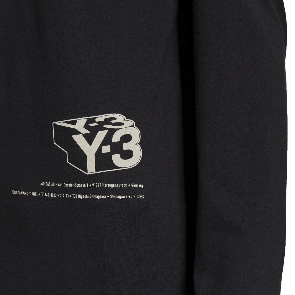 Y-3 ロンT ZINE PAGE 2 LONG SLEEVE TEE HF7071 BLACK