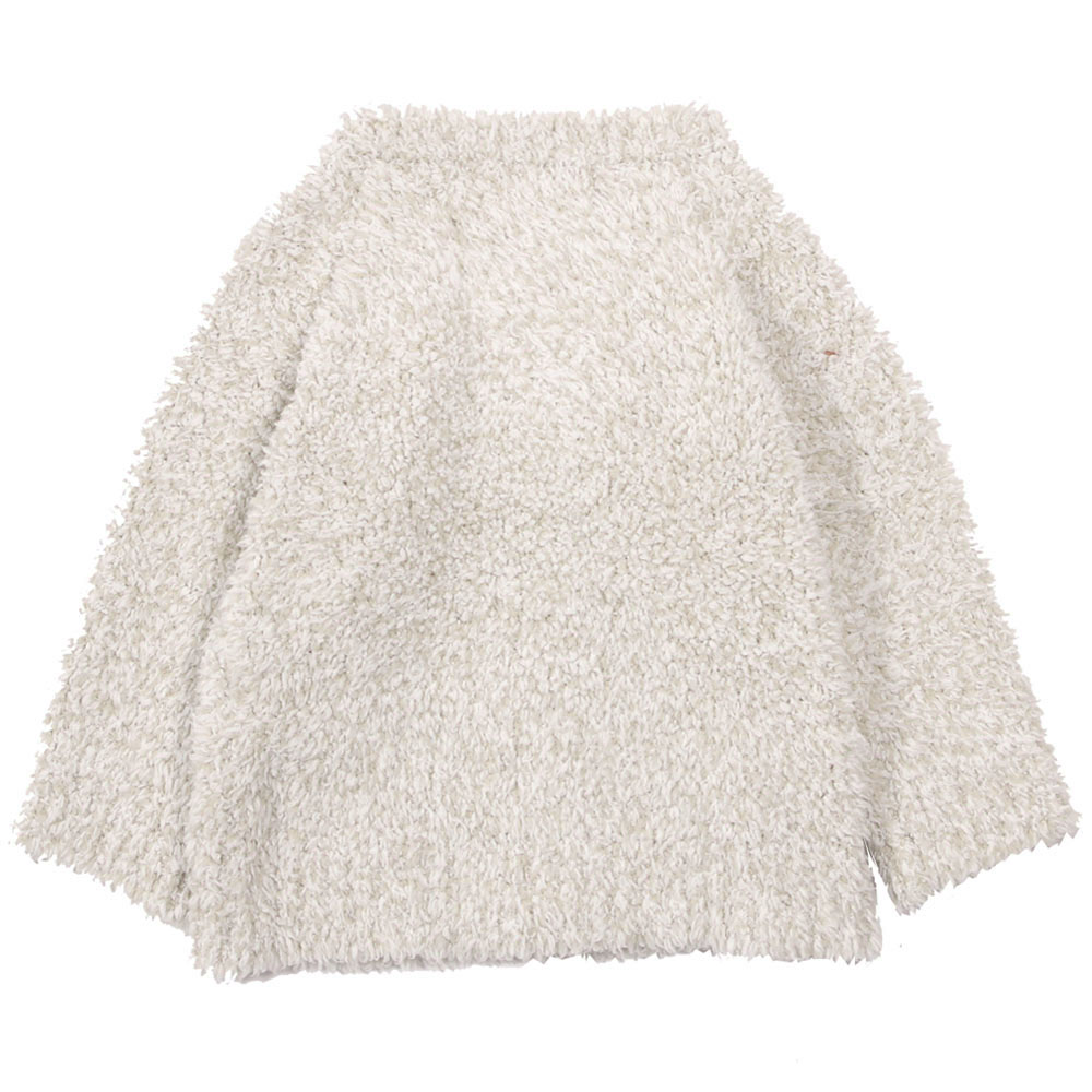 BAREFOOT DREAMS ベビー カーディガン Infant Heathered Cardigan B815  Stone/White