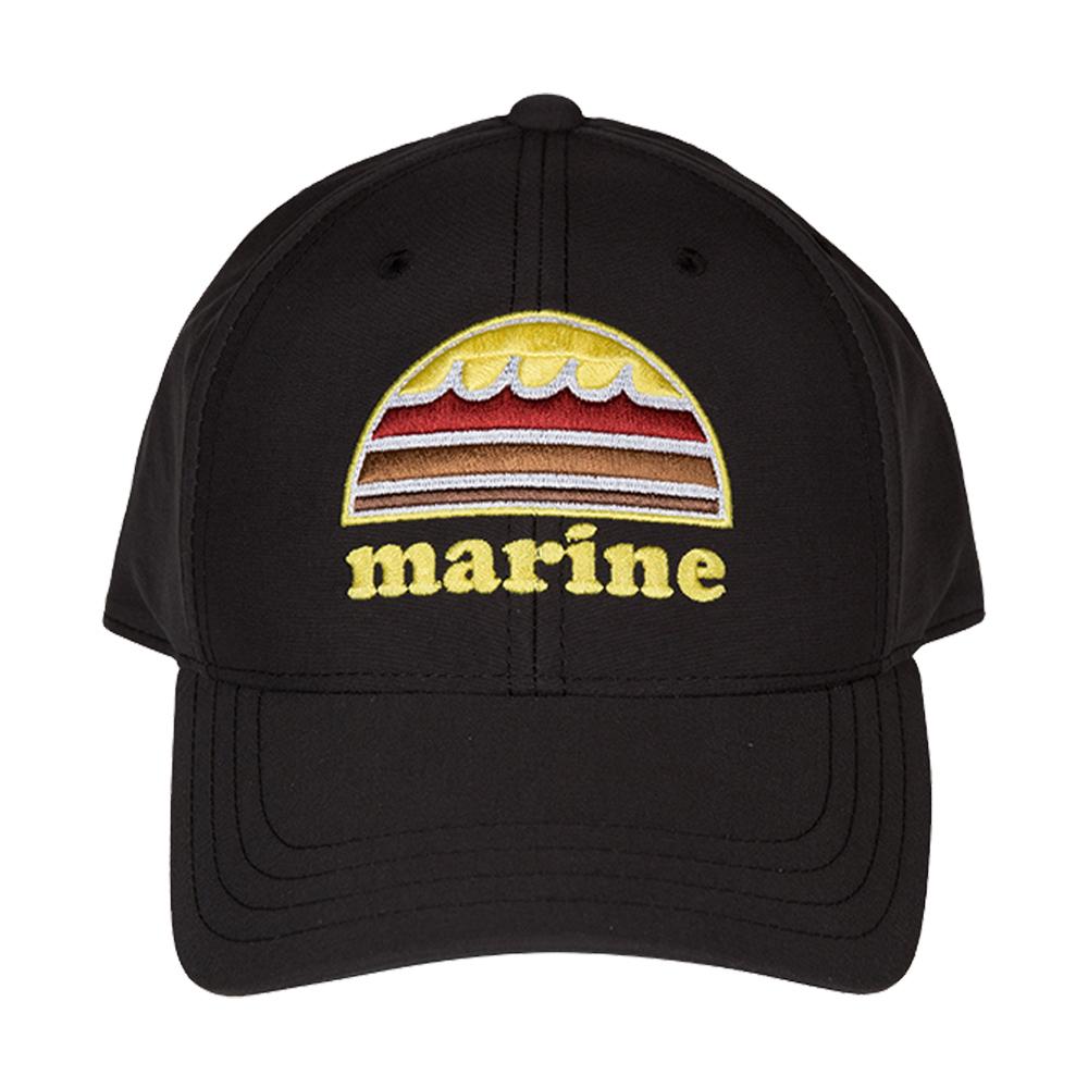 muta MARINE 撥水 SUNSETキャップ MMAV 622027 BLACK