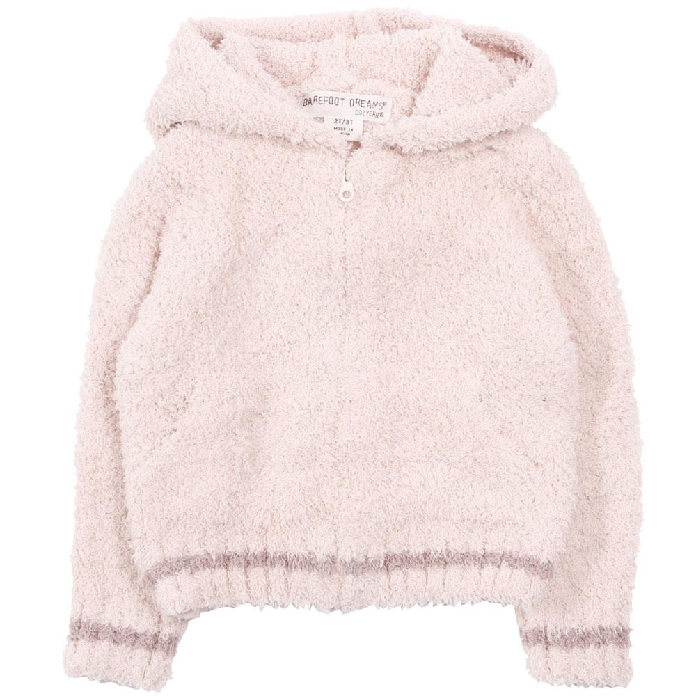 BAREFOOT DREAMS Kids Zip-up Hoodie DKCC1043 Ballet Pink