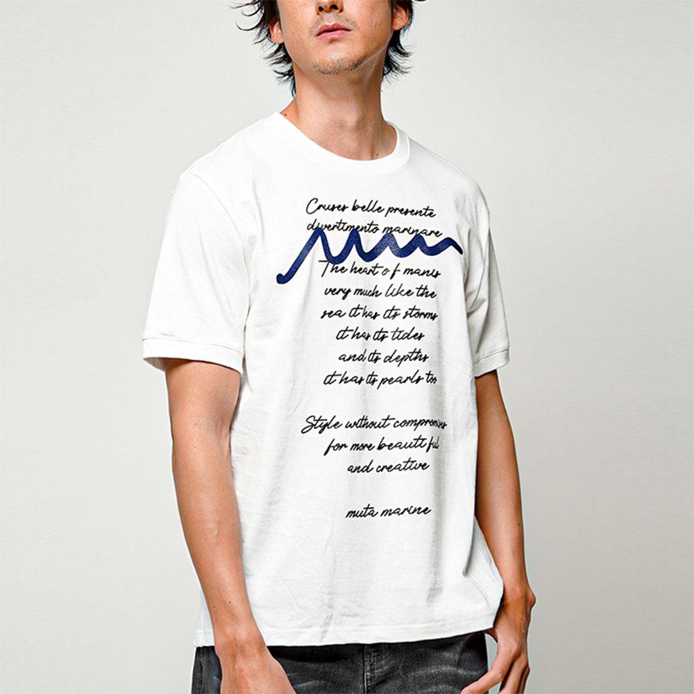 muta MARINE Tシャツ LETTERED MMAX34105 BLACK