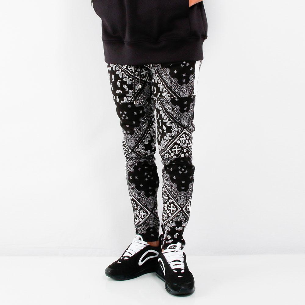 RESOUND CLOTHING パンツ SLASH LINE PT RC21-ST-012 BANDANA BK