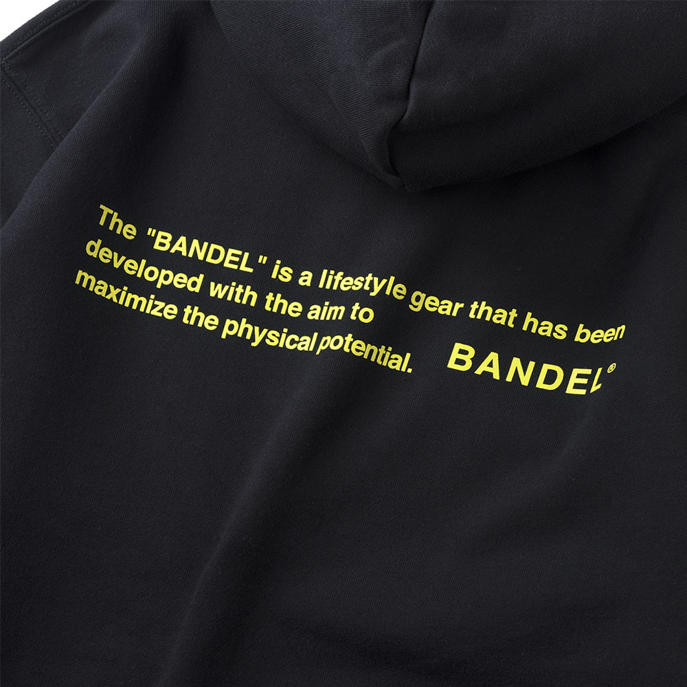 BANDEL フーディー GHOST Concept Notes BAN-HD017 BlackxNeonYellow