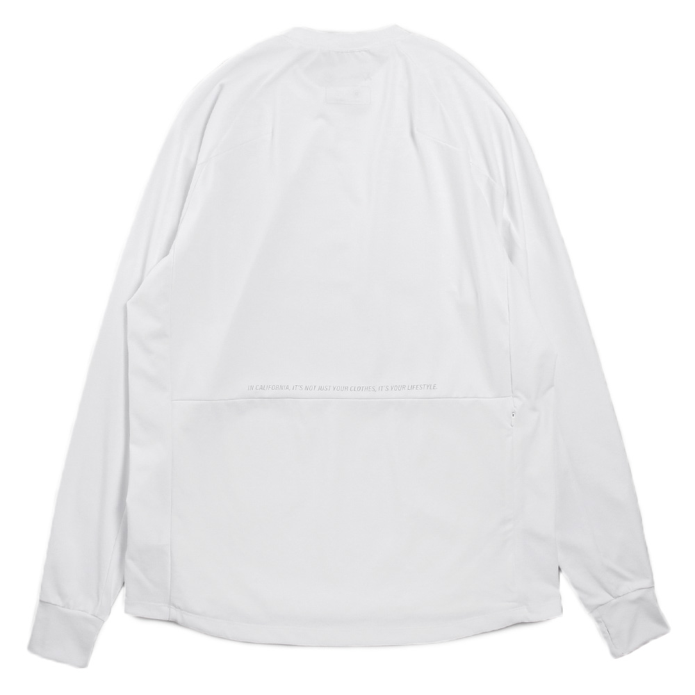 H.I.P. by SOLIDO×LEADER DELTA ロンT SOLOTEX LOOSE CREWNECK LONG SLEEVE T MHSL21S0829-M WHITE
