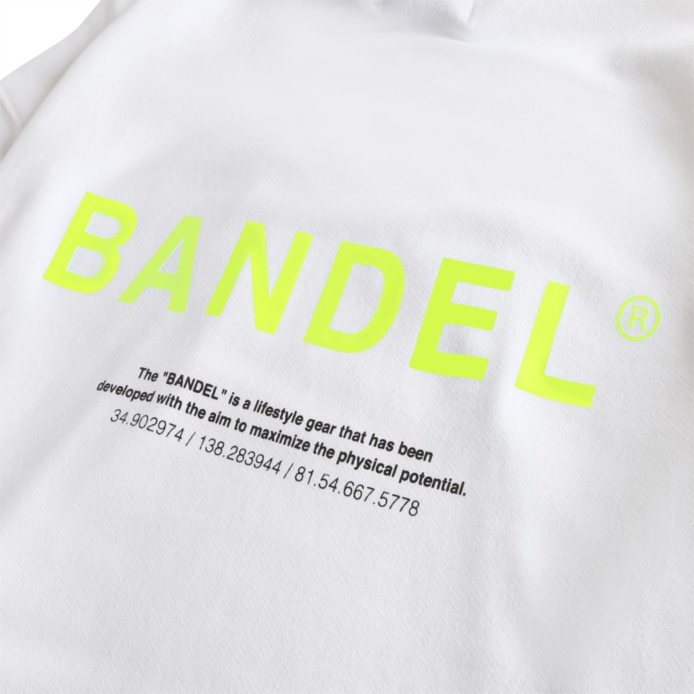 BANDEL フーディー GHOST XL-LOGO HD007 WHITExYELLOW