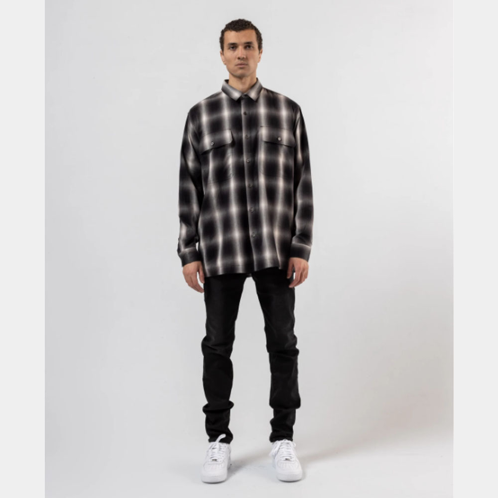 STAMPD シャツ Templin Button Down SLA-M 2288BD BLACK