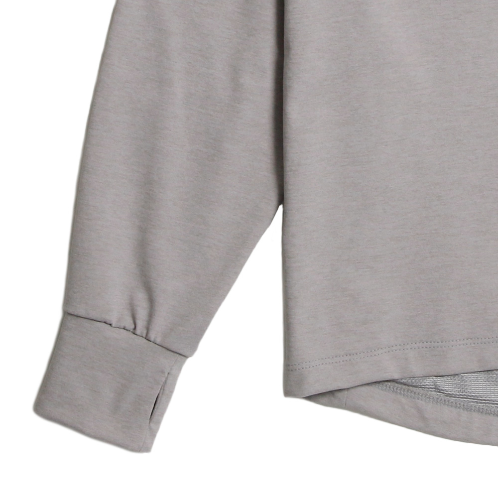 H.I.P. by SOLIDO×LEADER DELTA ロンT SOLOTEX LOOSE CREWNECK LONG SLEEVE T MHSL21S0829-M L.GRAY
