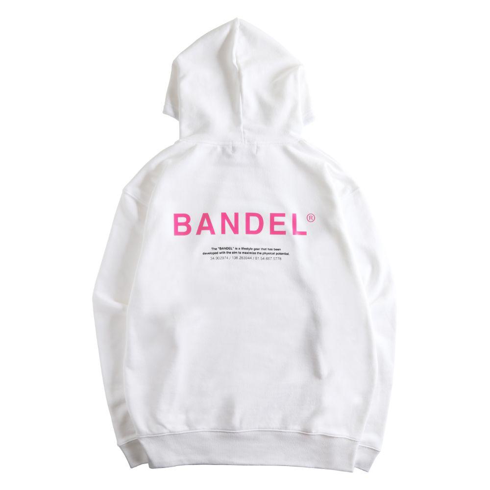 BANDEL フーディー GHOST XL-LOGO HD007 WHITExPINK