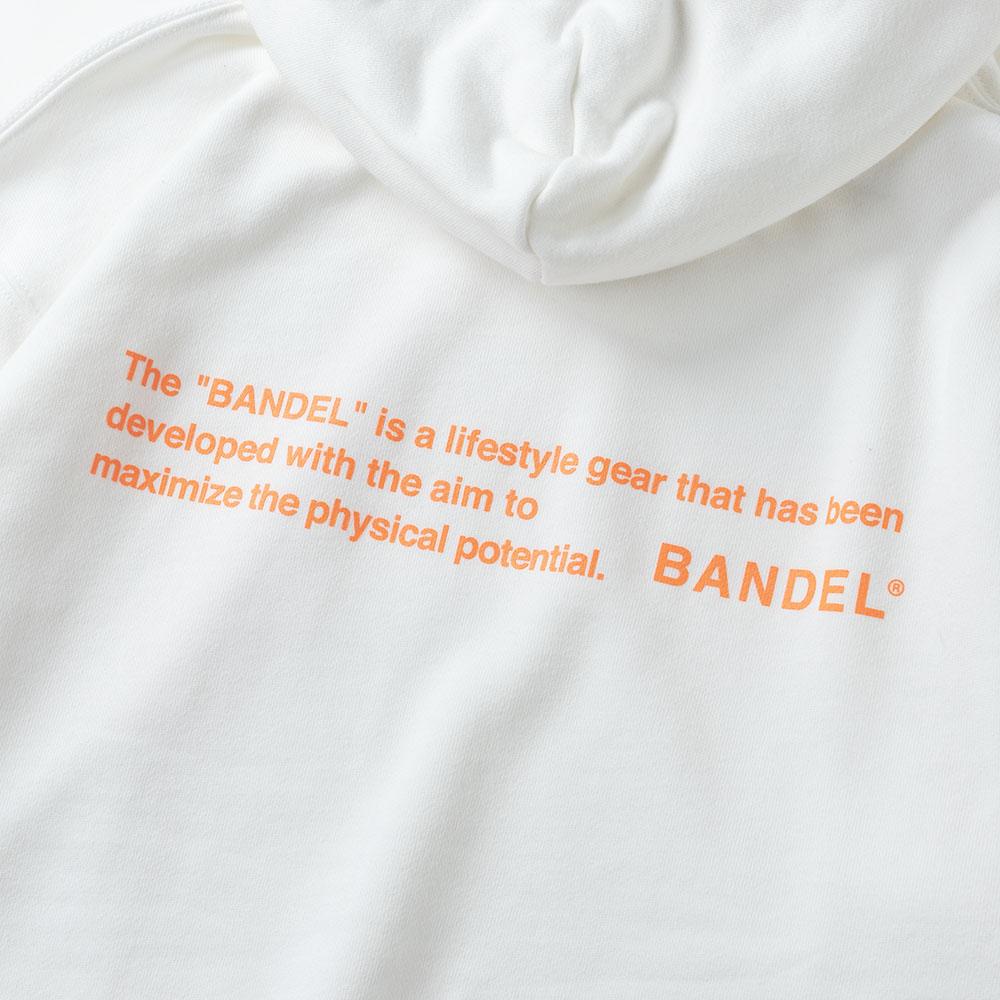 BANDEL フーディー GHOST Concept Notes BAN-HD017 WhitexNeonOrange