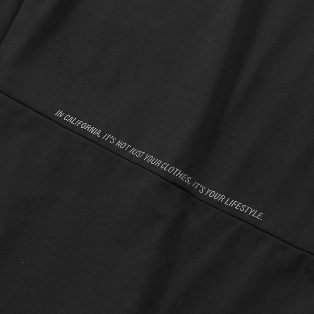 H.I.P. by SOLIDO×LEADER DELTA ロンT SOLOTEX LOOSE CREWNECK LONG SLEEVE T MHSL21S0829-M BLACK