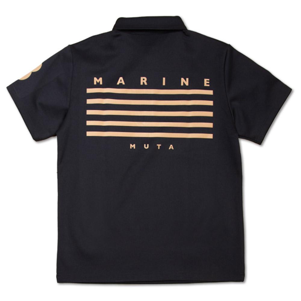 muta MARINE ポロシャツ BACK 5LINE MGAX-446072 BLACK