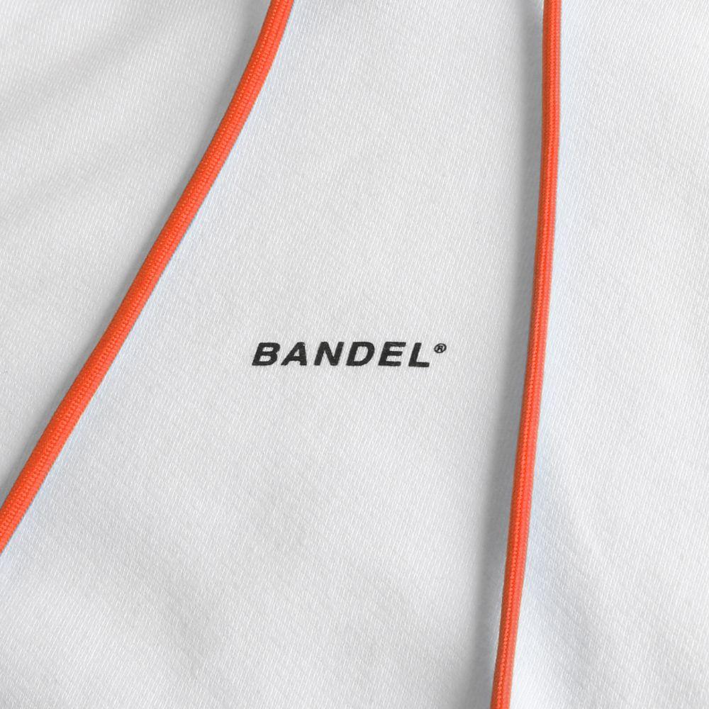 BANDEL フーディー GHOST XL-LOGO HD007 WHITExORANGE