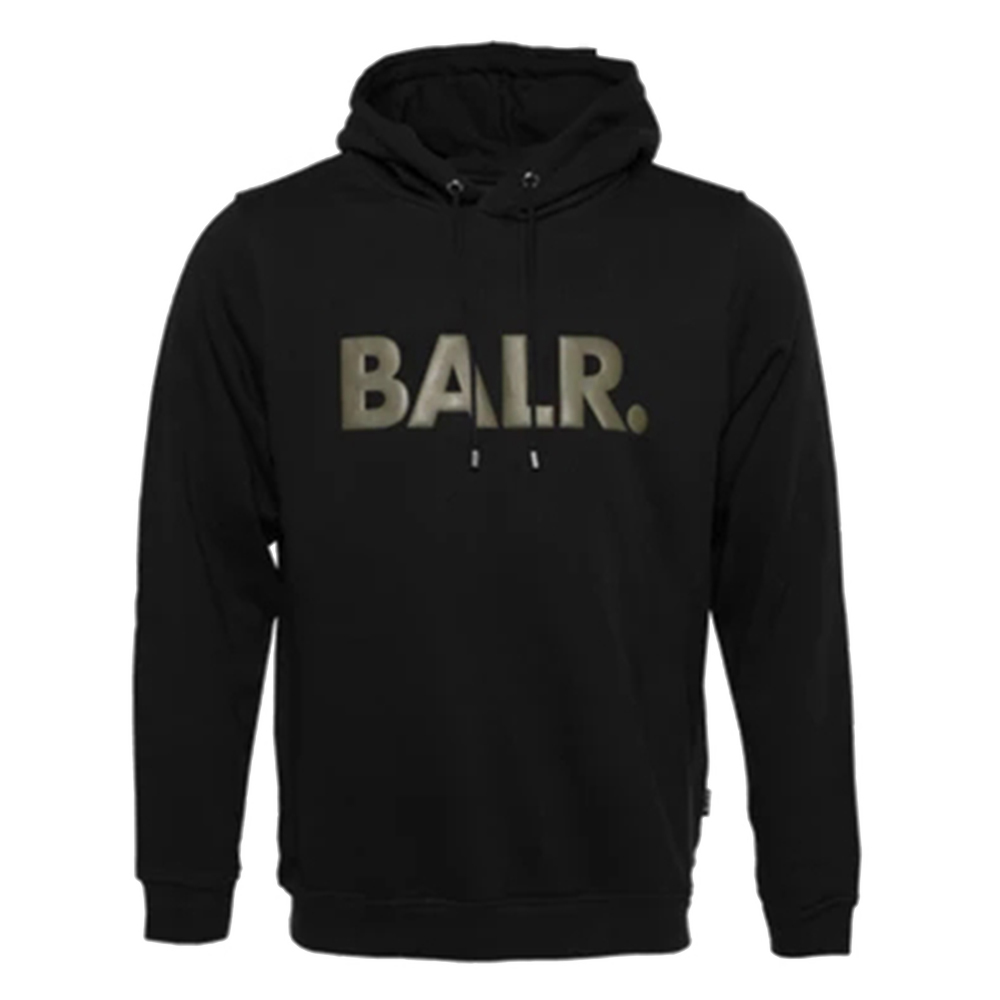 BALR. フーディー BRAND HOODIE B10005 BLACKxGREEN