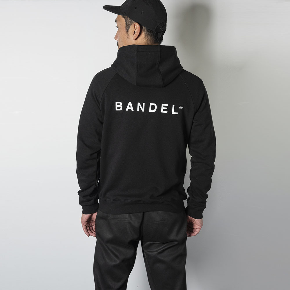 BANDEL ジップフーディー Back Logo BAN-ZH001 BLACK