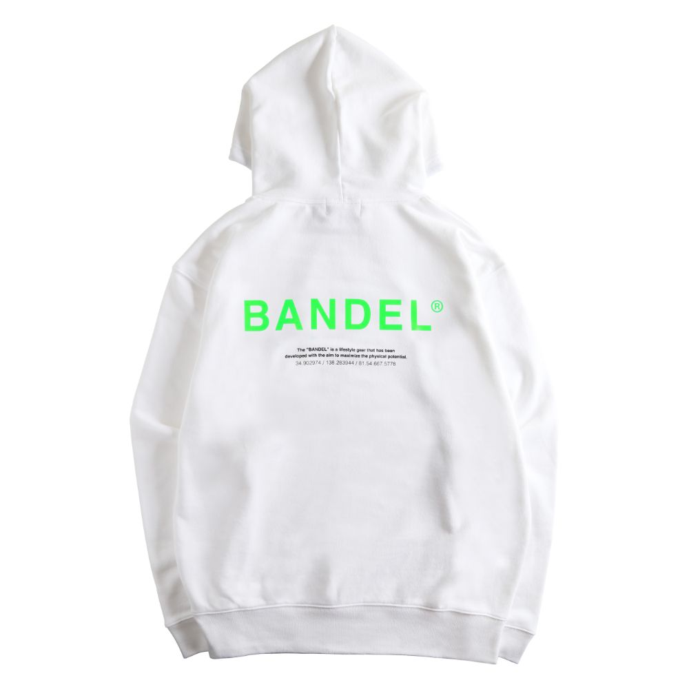 BANDEL フーディー GHOST XL-LOGO HD007 WHITExGREEN
