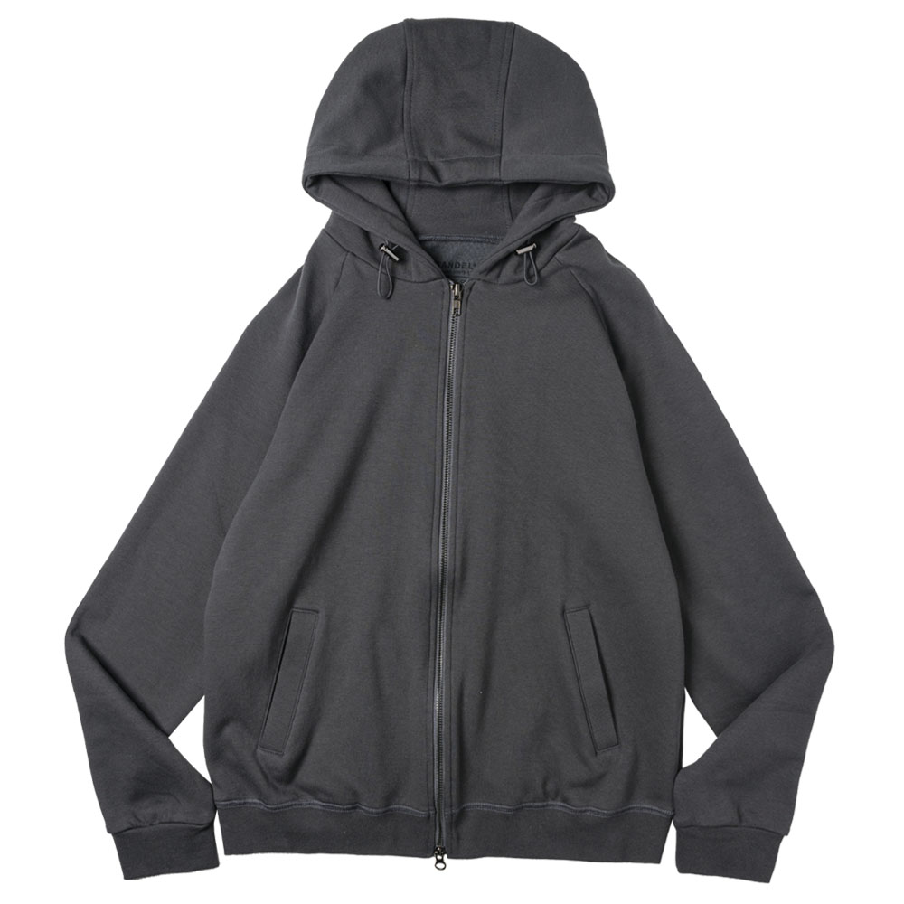 【予約】BANDEL ジップフーディー Back Logo BAN-ZH001 CHARCOAL GREY