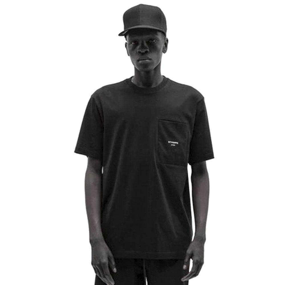 STAMPD Tシャツ Ssport Logo Pocket Tee SLA-M2616TE BLACK