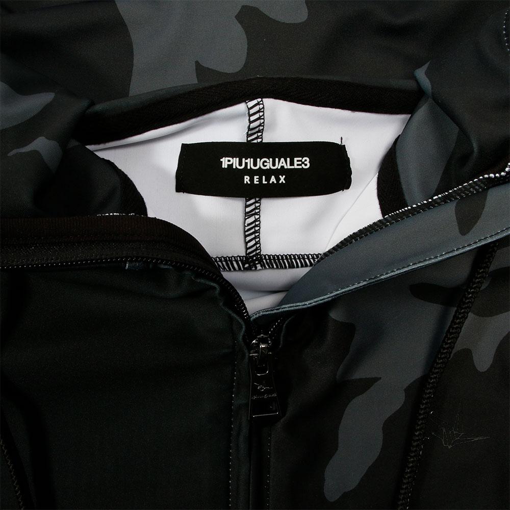 1PIU1UGUALE3 RELAX ラッシュガード パーカー BLACKxCAMO