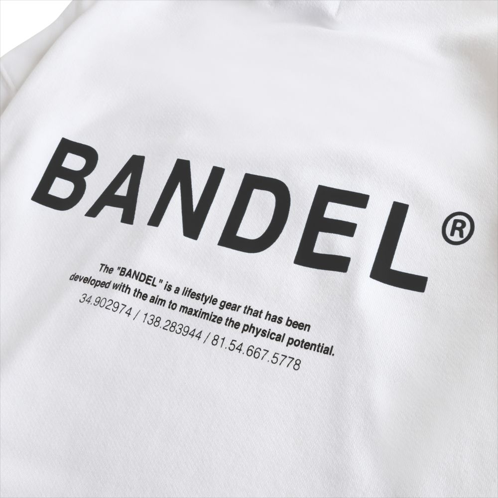 BANDEL フーディー GHOST XL-LOGO HD007 WHITExBLACK