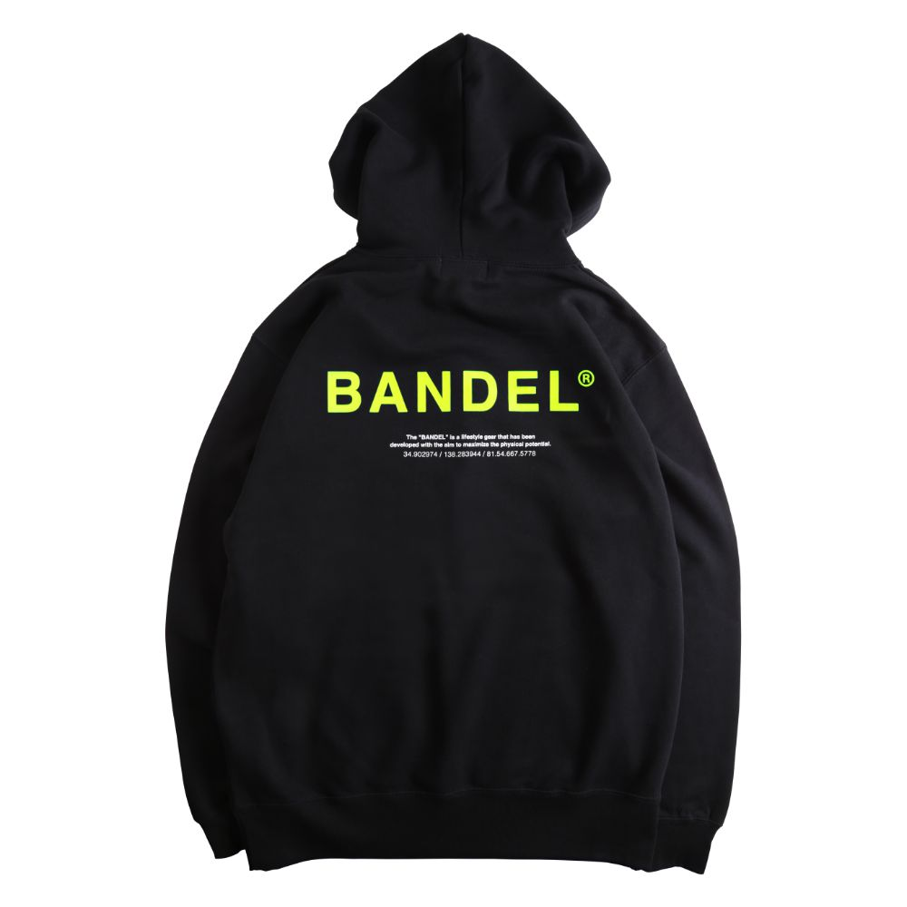 BANDEL フーディー GHOST XL-LOGO HD007 BLACKxYELLOW