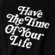 BANDEL フーディー Have The Time Of Your Life BAN-HD012 Black×White