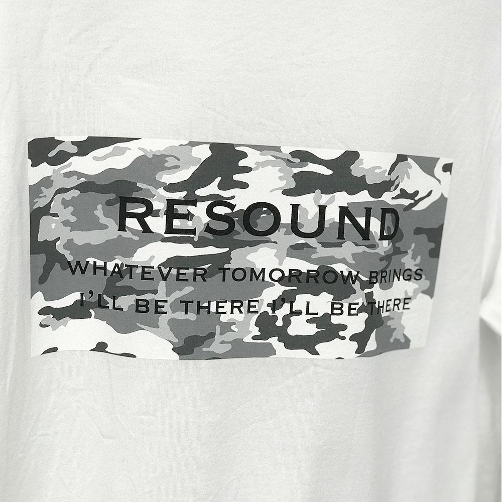 RESOUND CLOTHING ロンT camouflage BOX LOGO LONG TEE RC17-T-002 / WHITE BLACK