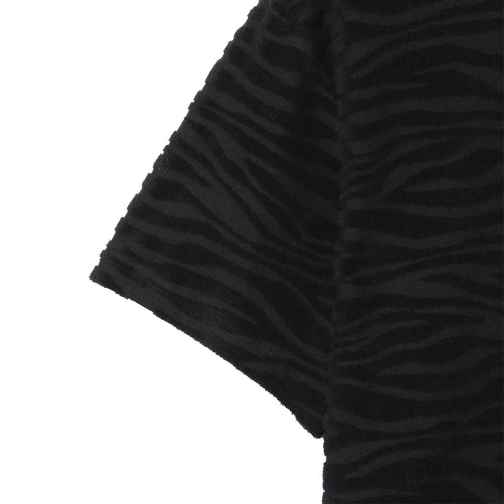 Seagreen Tシャツ ZEBRA PILE JQ MSEA21S8206-M BLACK