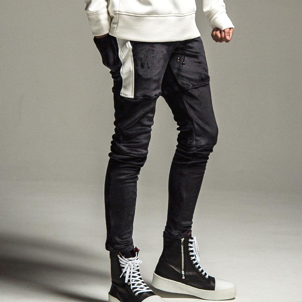 【予約】 RESOUND CLOTHING パンツ Double Velours fleece SLASH LINE PT RC22-ST-012H BLACK