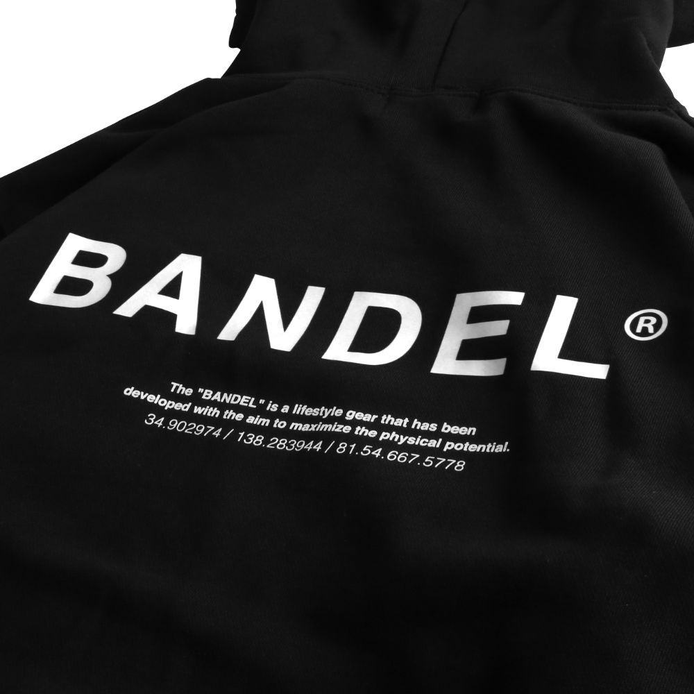 BANDEL フーディー GHOST XL-LOGO HD007 BLACKxWHITE