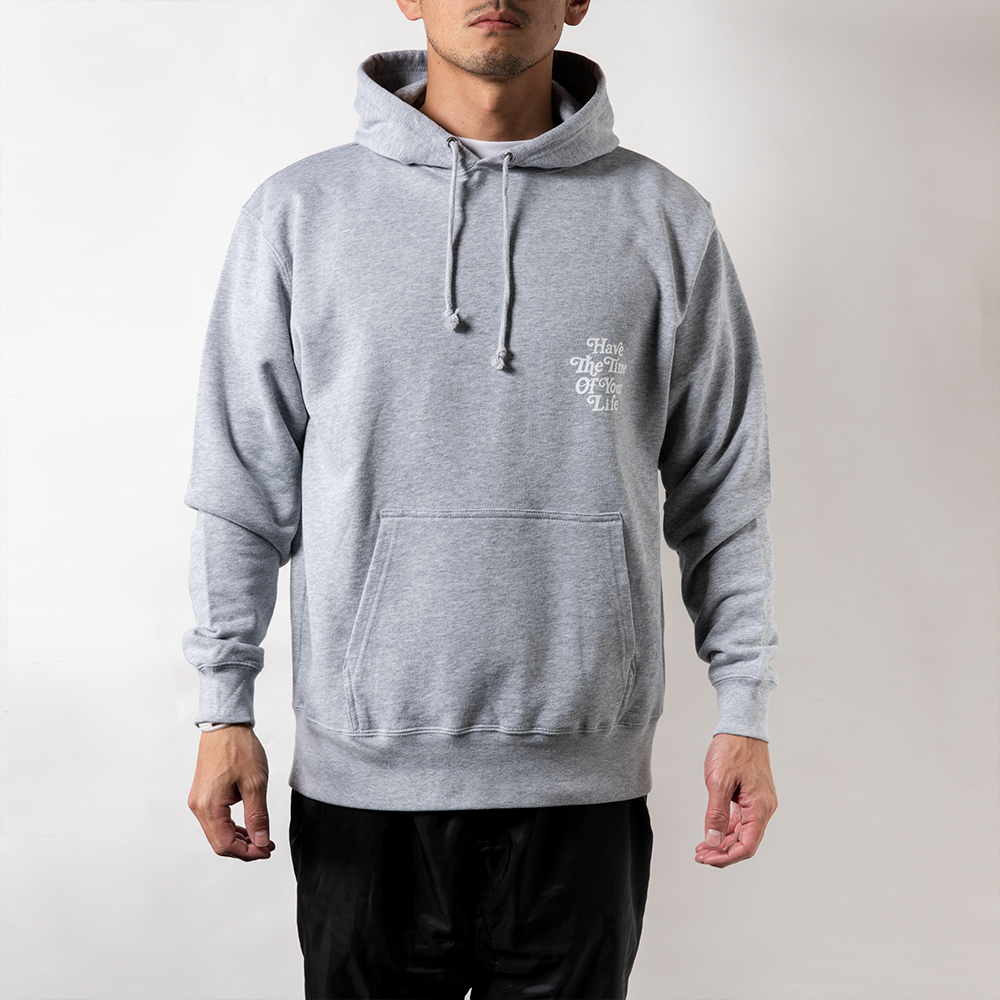 BANDEL フーディー Have The Time Of Your Life BAN-HD012 Grey×White