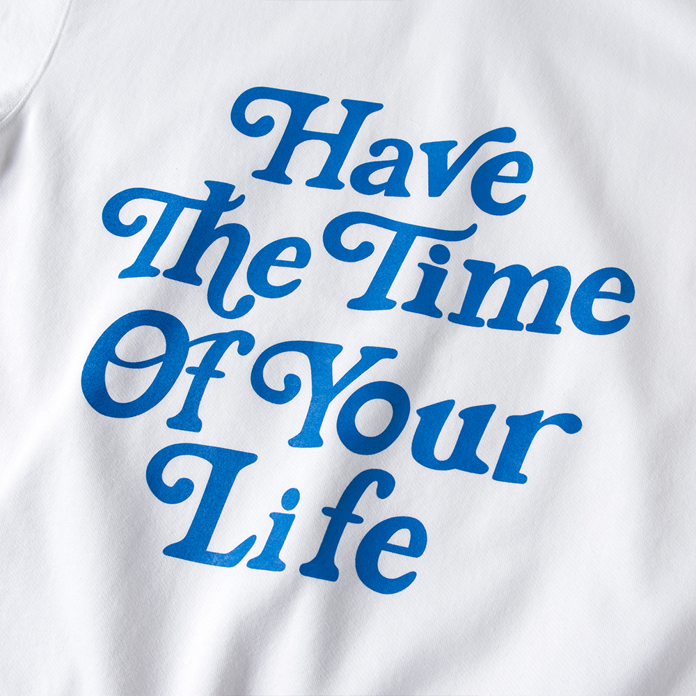 BANDEL フーディー Have The Time Of Your Life BAN-HD012 White×Blue