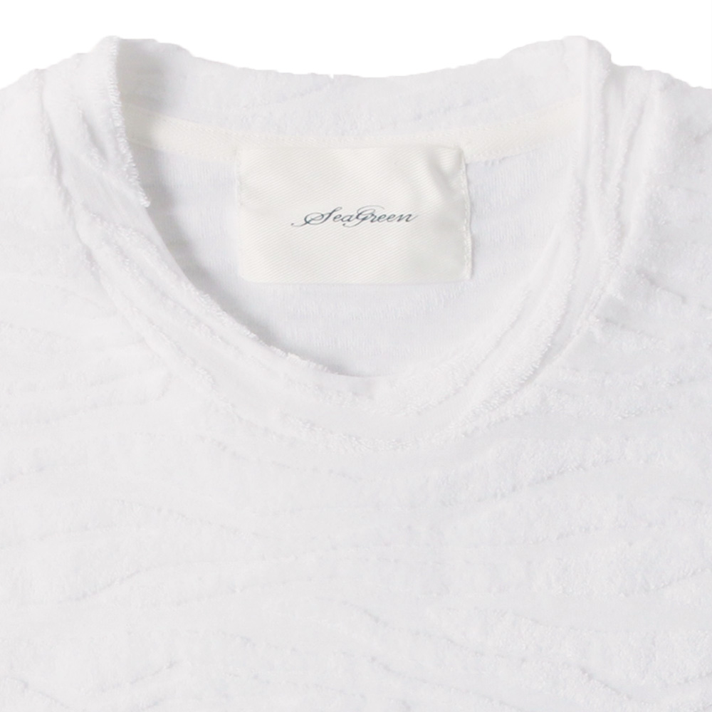 Seagreen Tシャツ ZEBRA PILE JQ MSEA21S8206-M WHITE