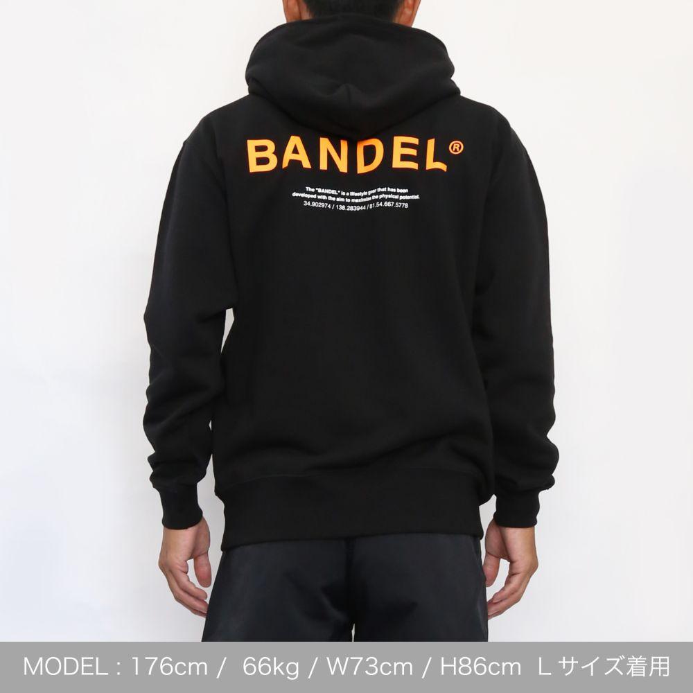 BANDEL フーディー GHOST XL-LOGO HD007 BLACKxORANGE