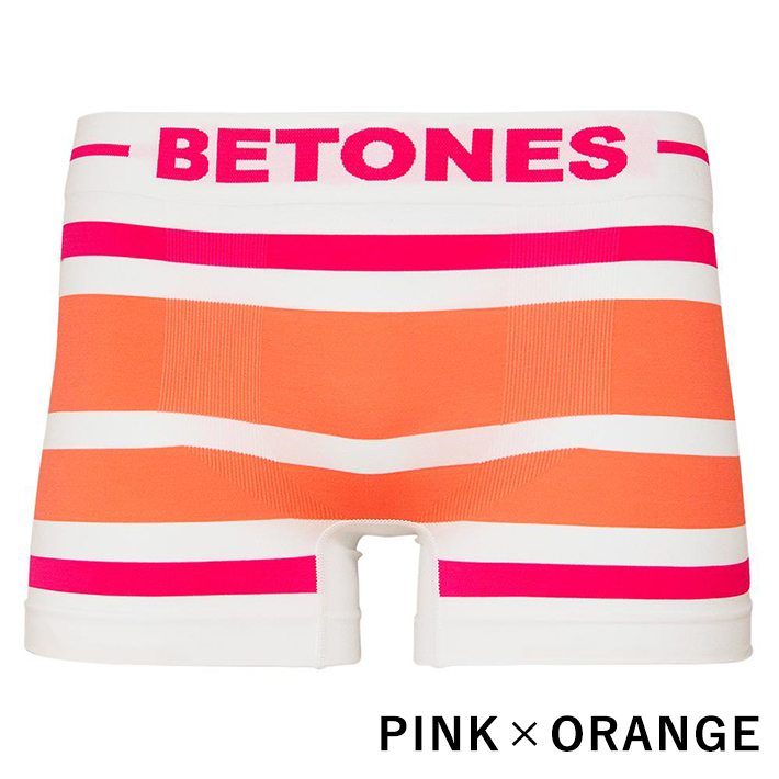 BETONES ボクサーパンツ AKER-B001 PINKxORANGE