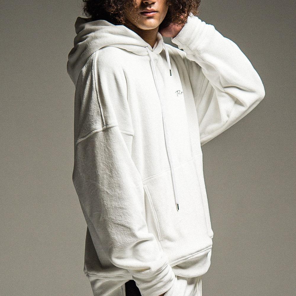 【予約】 RESOUND CLOTHING フーディー Double Velours fleece  loose hoodie RC22-C-006 WHITE