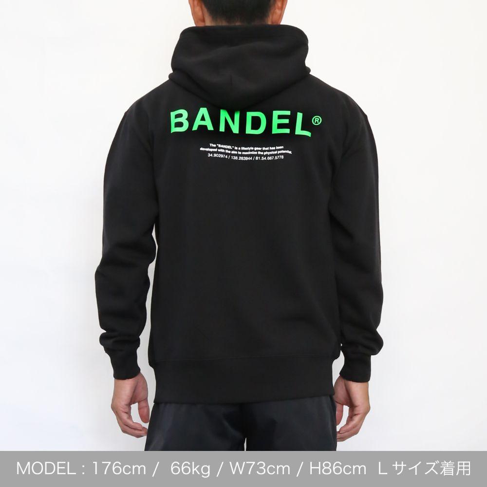 BANDEL フーディー GHOST XL-LOGO HD007 BLACKxGREEN
