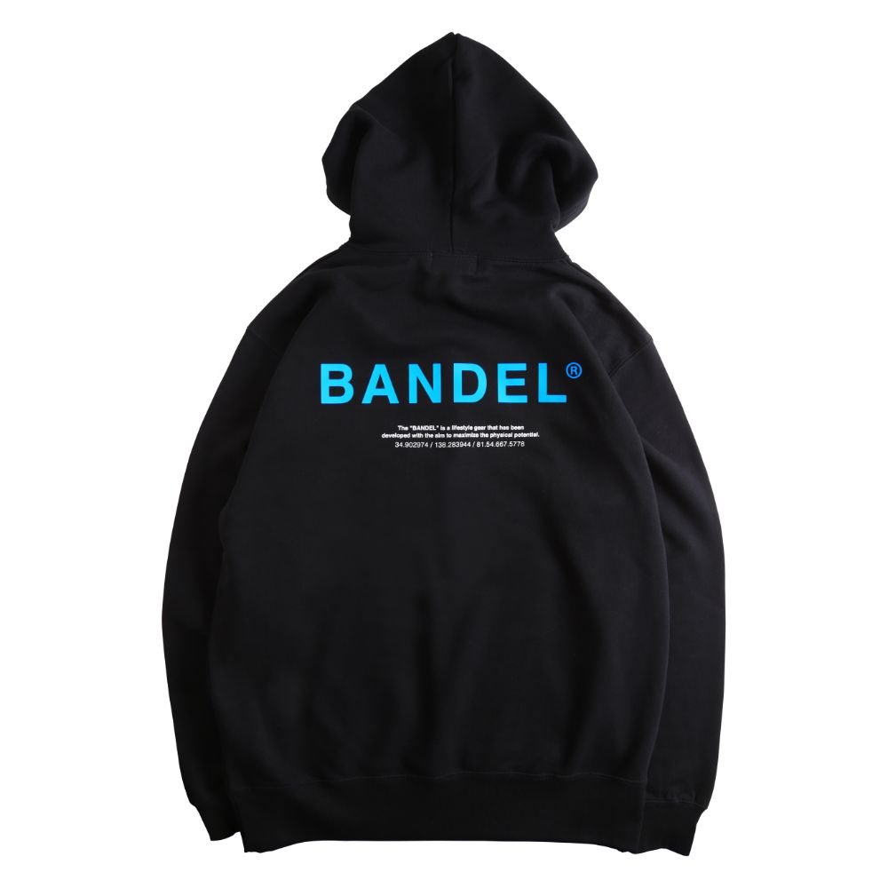 BANDEL フーディー GHOST XL-LOGO HD007 BLACKxBLUE