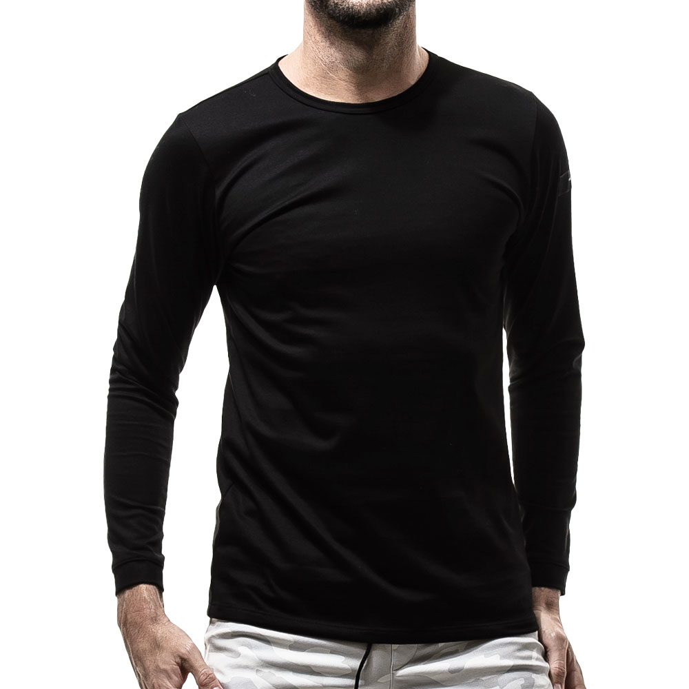 RESOUND CLOTHING ロンT ST COTTON waffle Thermal RC19-C-001 BLACK