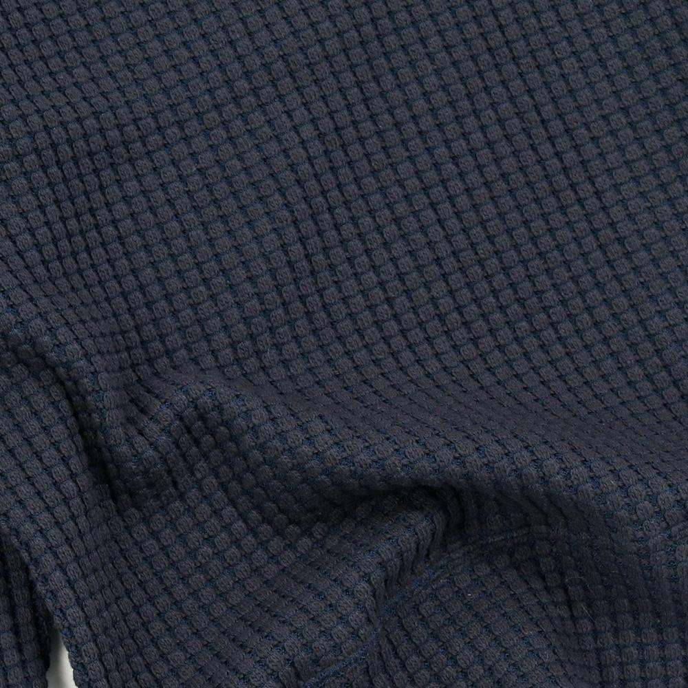 Seagreen プルオーバー BIG WAFFLE PULLOVER MSEA21S8102-M NAVY