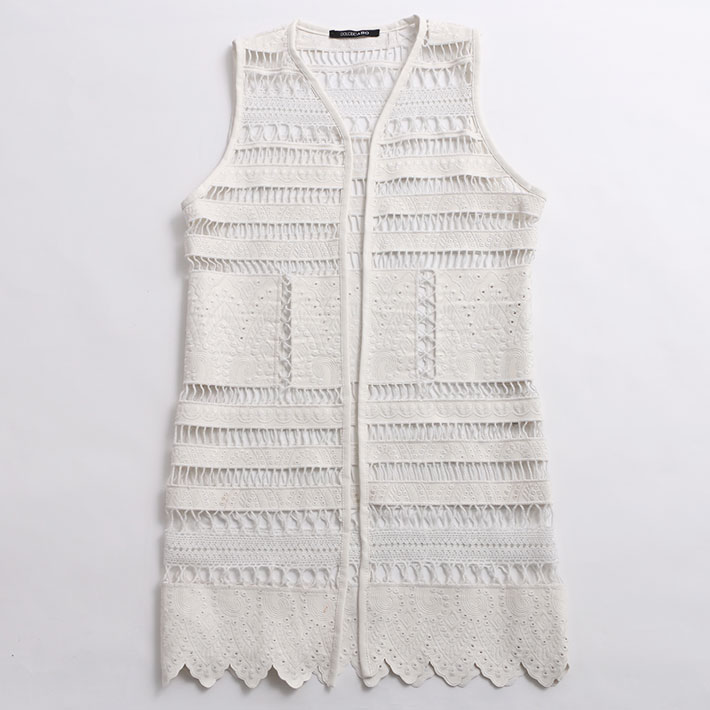 DOLCE CABO ドルチェ カボ LACE VEST 71523 WHITE