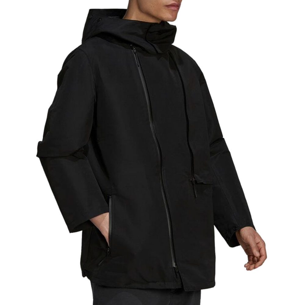 Y-3 パーカー M CLASSIC DENSE WOVEN HOODED PARKA HB3399 BLACK