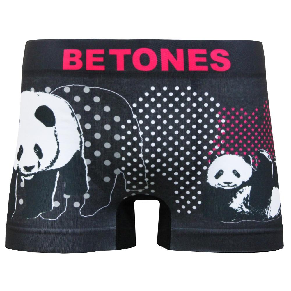BETONES MENS ボクサーパンツ ANIMAL D004 PANDA 9-L BLACK