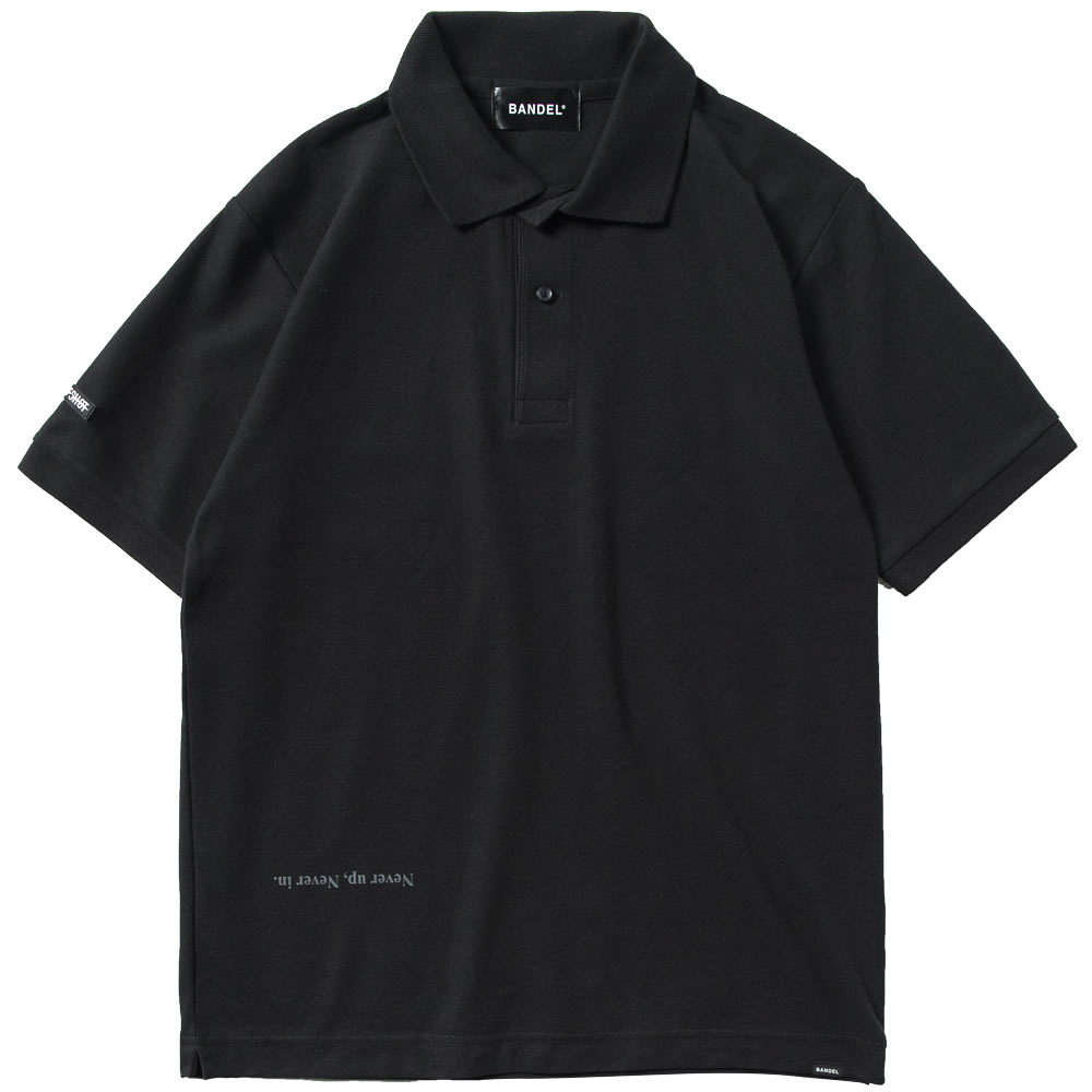 BANDEL ポロシャツ Never up,Never in GOLF POLO BG-NUPL001 BLACKxGRAY