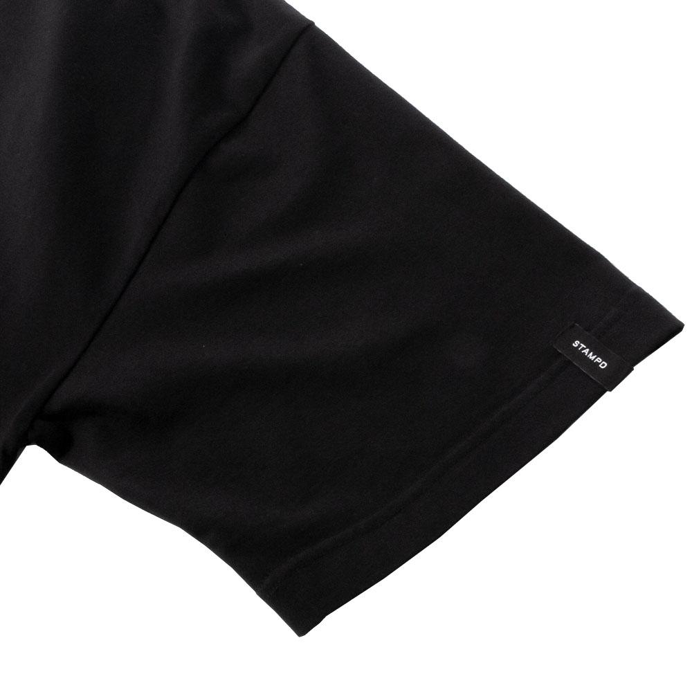 STAMPD Tシャツ Oversized Greece Tee SLA-M2723TE BLACK