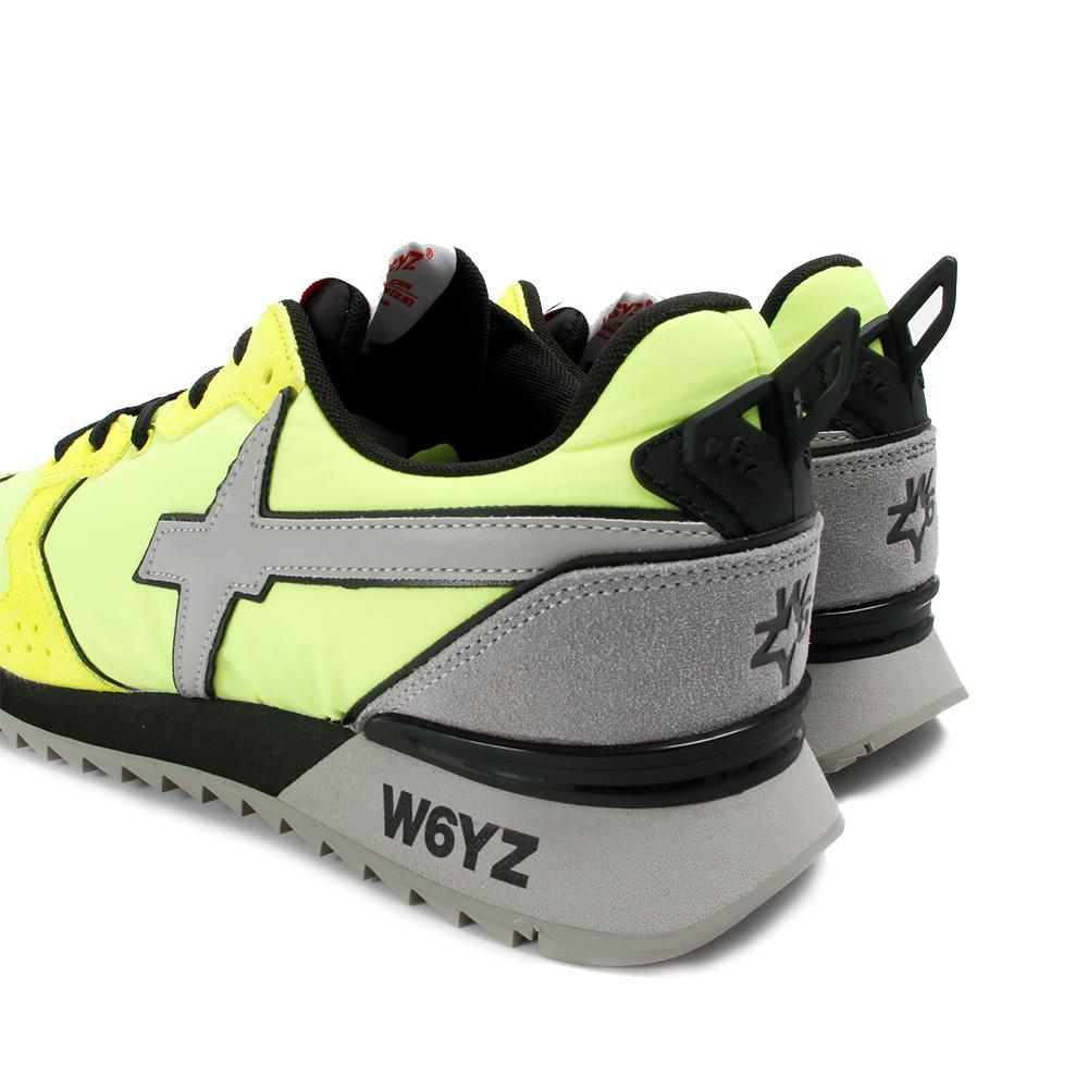 W6YZ スニーカー JET-M 11-1G43 GIALLO FLUO PIOMBO