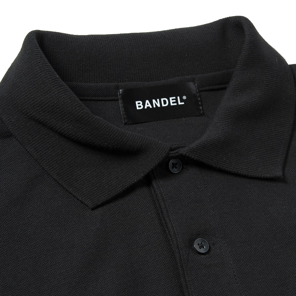 BANDEL ポロシャツ Never up,Never in GOLF POLO BG-NUPL001 BLACKxWHITE