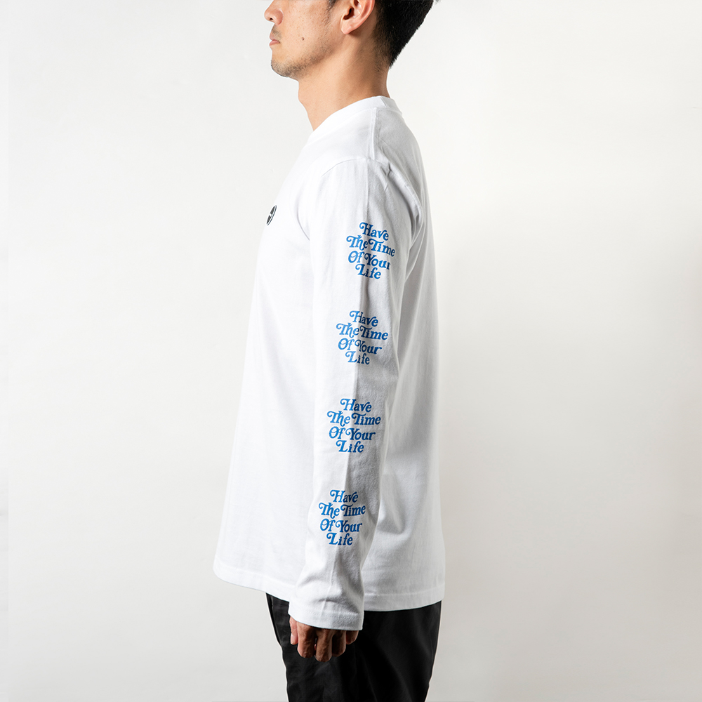 BANDEL ロンT L/S TEE HTOYL Arm BAN-LT015 White×Blue