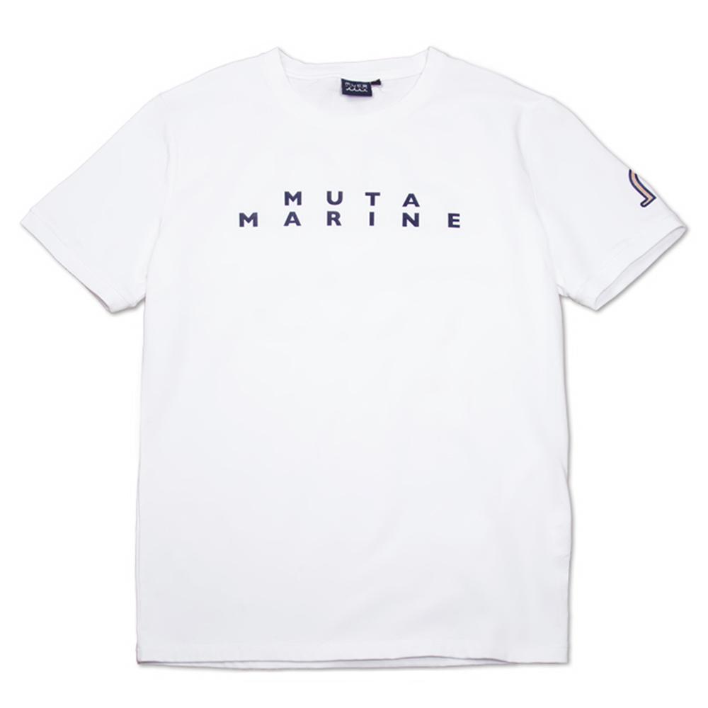 muta MARINE Tシャツ BACK TWIN WAVE MMAX-434194 WHITE