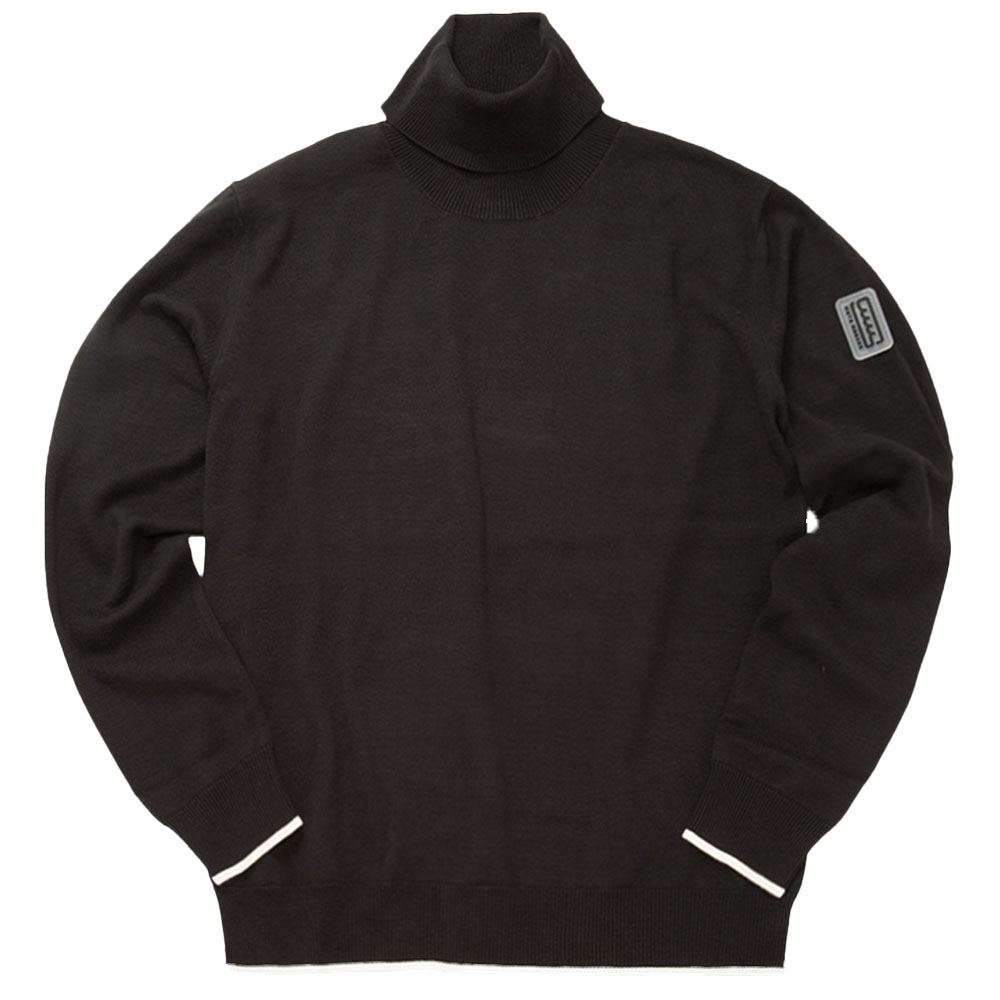 muta MARINE タートルネックセーター MMTK-443113 BLACK